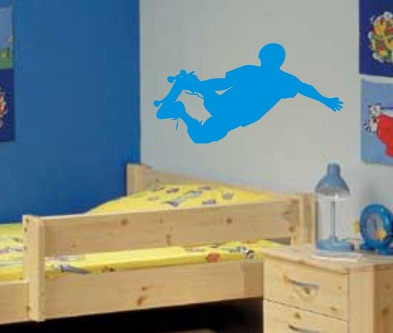 Skateboarder Decal Wall Mural Sticker Skate Skateboarding X Games Teen Boy Room