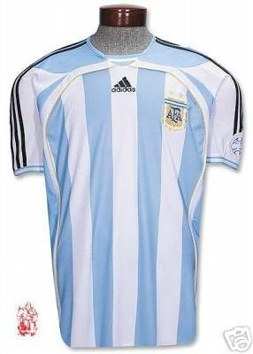 Argentina Home World Cup 2006 Soccer Jersey