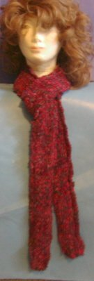 Hand Crafted Scarf 90% Polyamide 10% Acrylic Variegated Reds, Black Price: 14.95