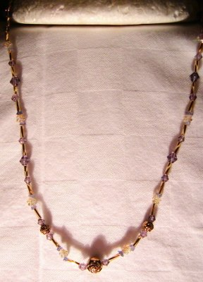 Numbered Hand Crafted Amethyst Inridescent Tanzanite Necklace Price: 29.95