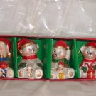 "4  Porcelain Teddy Bear Cmas Ornaments Size: 2 3/4"" H Price: 3.95"