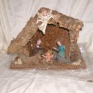 "Rustic Nativity Scene Made in Italy Made from Wood, Moss 8"" H x 10 1/4"" W x 4 3/4"" D Price: 12.95"