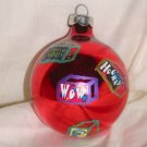 HandCrafted Red Glass Christmas Ball Ornament  Price: 3.95