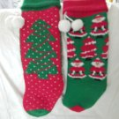 2 Knitted Cmas Stockings Green Cmas Tree over Red & Santa's & Cmas Tree's Price: 2.95