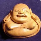 Hand Carved Laughing Buddha Bust