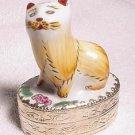 Chinese Porcelain Cat Trinket Box
