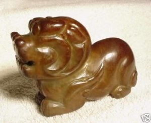 New Chinese Smoked Jade Foo Dog