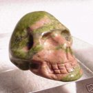 Hand Carved Unakite SKULL