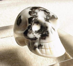 Hand Carved Quartz Jasper SKULL
