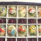 Handpainted Birds Flowers JADE Eggs (Set of 10)