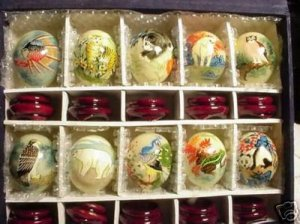 Hand Painted JADE Eggs  Wildlife (10)  Animals