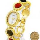 New Ladies Marcel Drucker Tiger Eye Unakite Watch