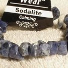 Genuine Sodalite Chips Nuggets Bracelet