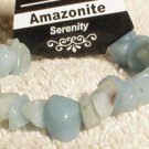 Genuine Amazonite Chips Nuggets Bracelet