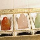 Hand Carved 5 Precious Stone Wise Men Set