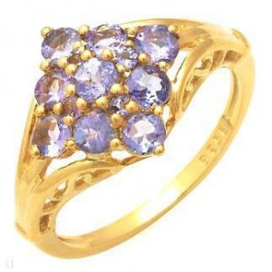 .95ctw Genuine Tanzanite Gold Vermeil  Ring 8