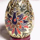 New Chinese  CLOISONNE Egg with Stand