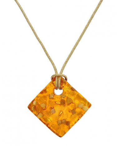 MURANO GLASS Made in Italy  Necklace 14K/925 Gold plated Silver, 24K Multicolor