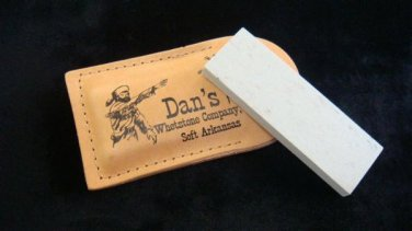 Dan's Whetstone  Soft  Arkansas Sharpening Stone & FREE Oil  & Leather Pouch
