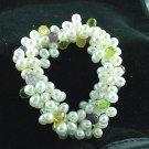 Genuine Gemstone Briolettes & Genuine Pearl Bracelet  Amethyst Citrine Peridot