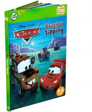 Disney Cars Tractor Tipping Tag Reader Activity Leapfrog Learning System Story Book 4-6 Years F/SHIP