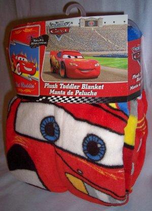 "Disney Pixar Cars Super Soft Plush Toddler Blanket 30"" x 45"" New Throw"