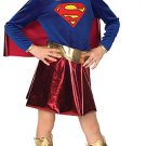 DC Comics Supergirl Girls Halloween Costume Childs Large 10-12 L