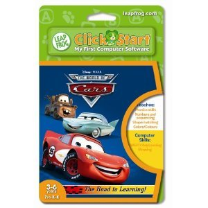 Disney CARS LeapFrog Click Start My First Computer Game Cartridge 3-6 Pre K-K FREE SHIP
