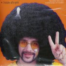 Black Super Huge Afro Fro Costume Wig with Hair Pick- One Size Unisex Adult