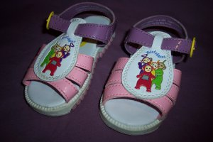 Teletubbies Sandals Shoes Girls Size Infant Toddler 6.5