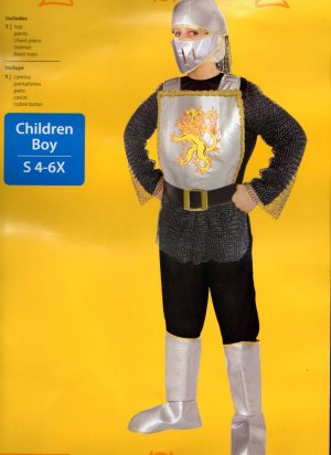 Brave Medieval Knight Halloween Costume Child Boys Size 4-6