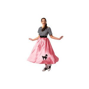 Pink Poodle Skirt Retro Fab 50's Dress Halloween Costume Womens Size Small 4-6