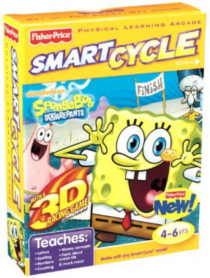 Smart Cycle Nickelodeon SPONGEBOB SQUAREPANTS 3D Software Game Cartridge NIB 4-6 yrs Fisher-Price