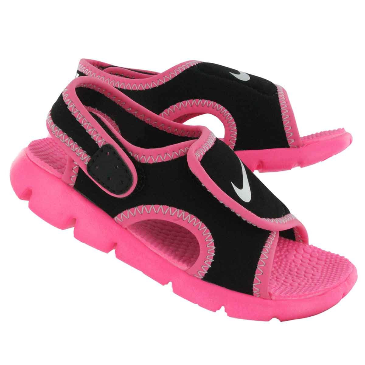 6655a3a9b Black Pink Nike SUNRAY ADJUST 4 (TD) Open Toe Sandals Shoes Girls Toddlers  Size 12 12c 386521 001