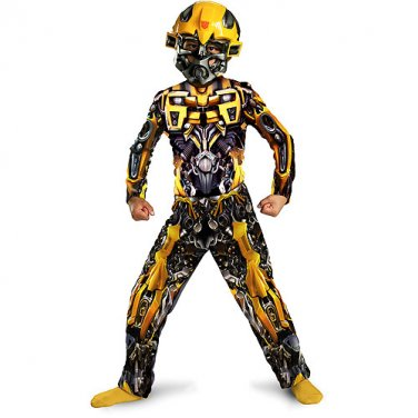 Transformers BumbleBee Dark of the Moon Muscle Chest Halloween Costume Boys Child Large 10-12