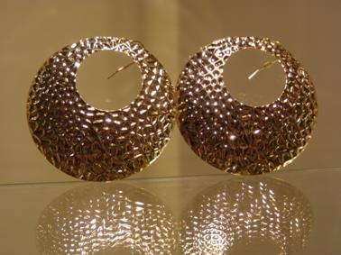 Gold Rivet Hoop Earrings