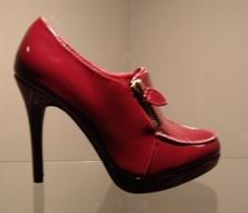 6 -Red Zipper Ankle Platform Bootie