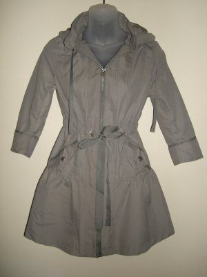 S- Waterproof Anorak Hooded Coat in Grey
