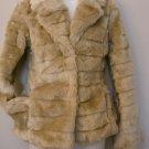 S- Brown Faux Fox Fur Coat