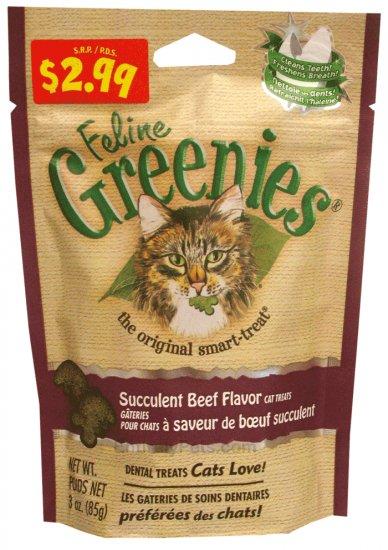 Feline Greenies!  Beef Flavor! 3 oz