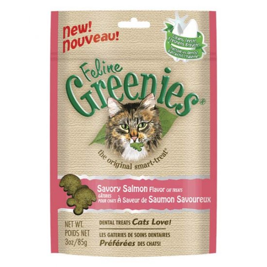 Feline Greenies!  Salmon Flavor! 3 oz