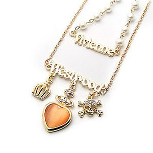 Korean Jewelry [67220] Luxurious Westwood Layered Necklace  (value @ $13.5)
