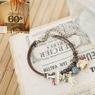 Korean Jewelry [67217] Cute Bears + Treasures items Bracelet  (value @ $11.5)