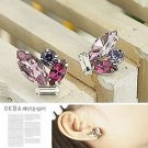 Korean Jewelry [67240] Sparkling Colorful Crystals Earrings - Pink tones (value @ $11.5)