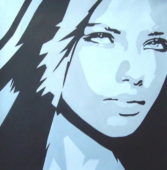 Eva Longoria Modern Pop Art painting on Canvas C18 Free Shipping to USA