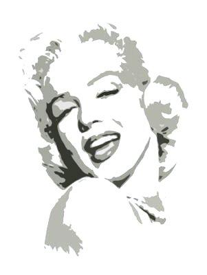 "Marilyn Monroe Grey Pop Art Painting on Canvas Free Shipping 12""x16""-019"