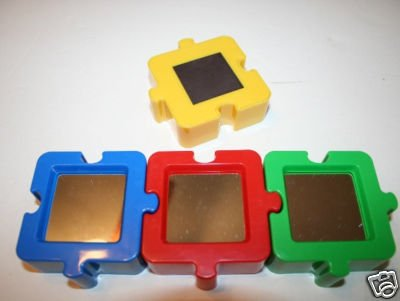 Autism Awareness Magnetic Puzzle Mirrors - Set of 4