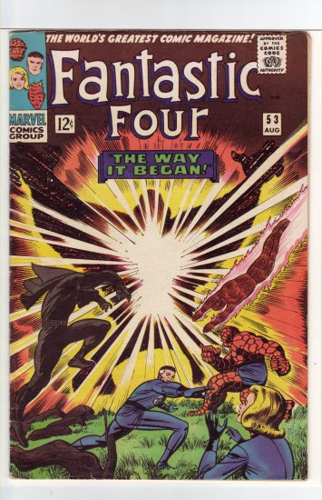 Fantastic Four # 53 FN/VF to VF-