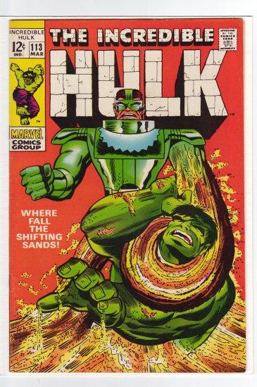 Hulk # 113 VF+ to VF/NM