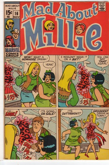 Mad about Millie # 16 VF to VF+